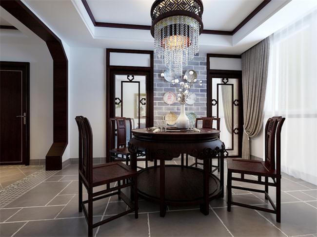 别墅餐厅简约中式装修设计